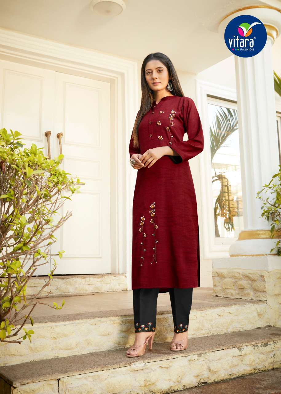 Vitara See More Kurti with Pant Wholesale Catalog 8 Pcs 7 - Vitara See More Kurti with Pant Wholesale Catalog 8 Pcs