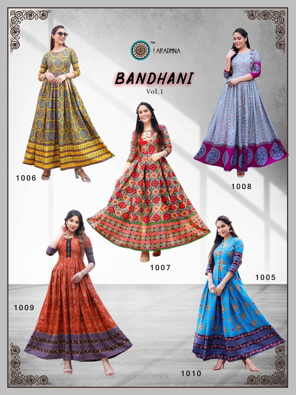 Aradhna Bandhani Vol 1 Kurti Wholesale Catalog 10 Pcs 19 - Aradhna Bandhani Vol 1 Kurti Wholesale Catalog 10 Pcs