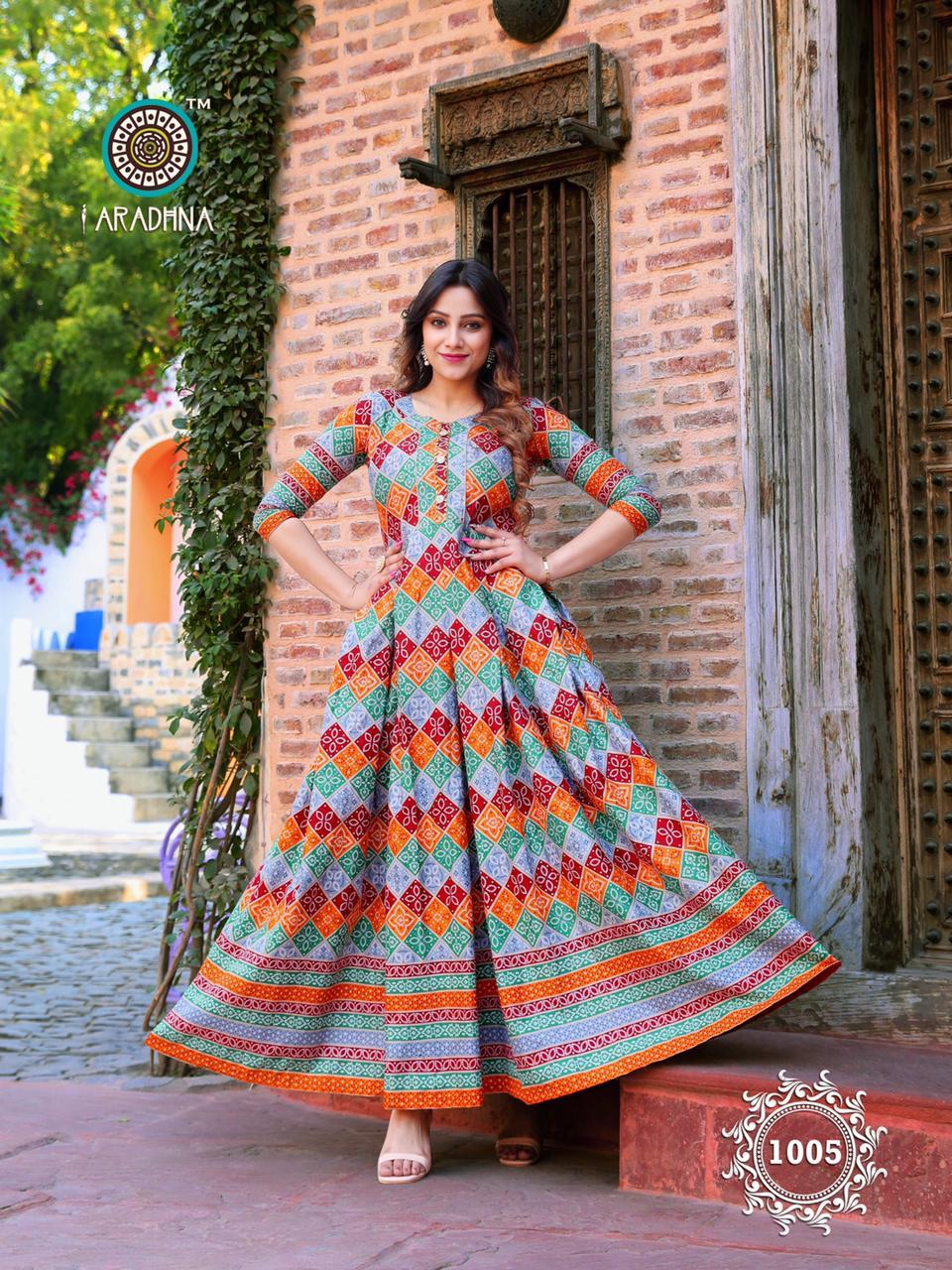 Aradhna Bandhani Vol 1 Kurti Wholesale Catalog 10 Pcs 9 - Aradhna Bandhani Vol 1 Kurti Wholesale Catalog 10 Pcs