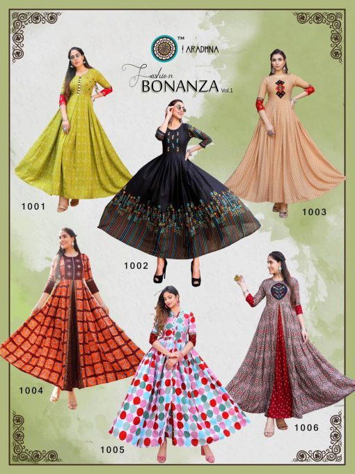 Aradhna Fashion Bonanza Vol 1 Kurti Wholesale Catalog 12 Pcs 19 510x680 - Aradhna Fashion Bonanza Vol 1 Kurti Wholesale Catalog 12 Pcs