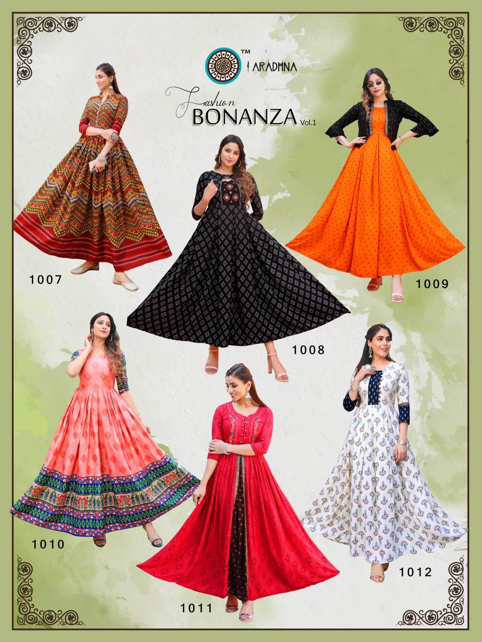 Aradhna Fashion Bonanza Vol 1 Kurti Wholesale Catalog 12 Pcs 20 - Aradhna Fashion Bonanza Vol 1 Kurti Wholesale Catalog 12 Pcs