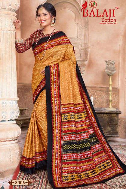Balaji Cotton Leelavathi Vol 8 B Saree Sari Wholesale Catalog 15 Pcs