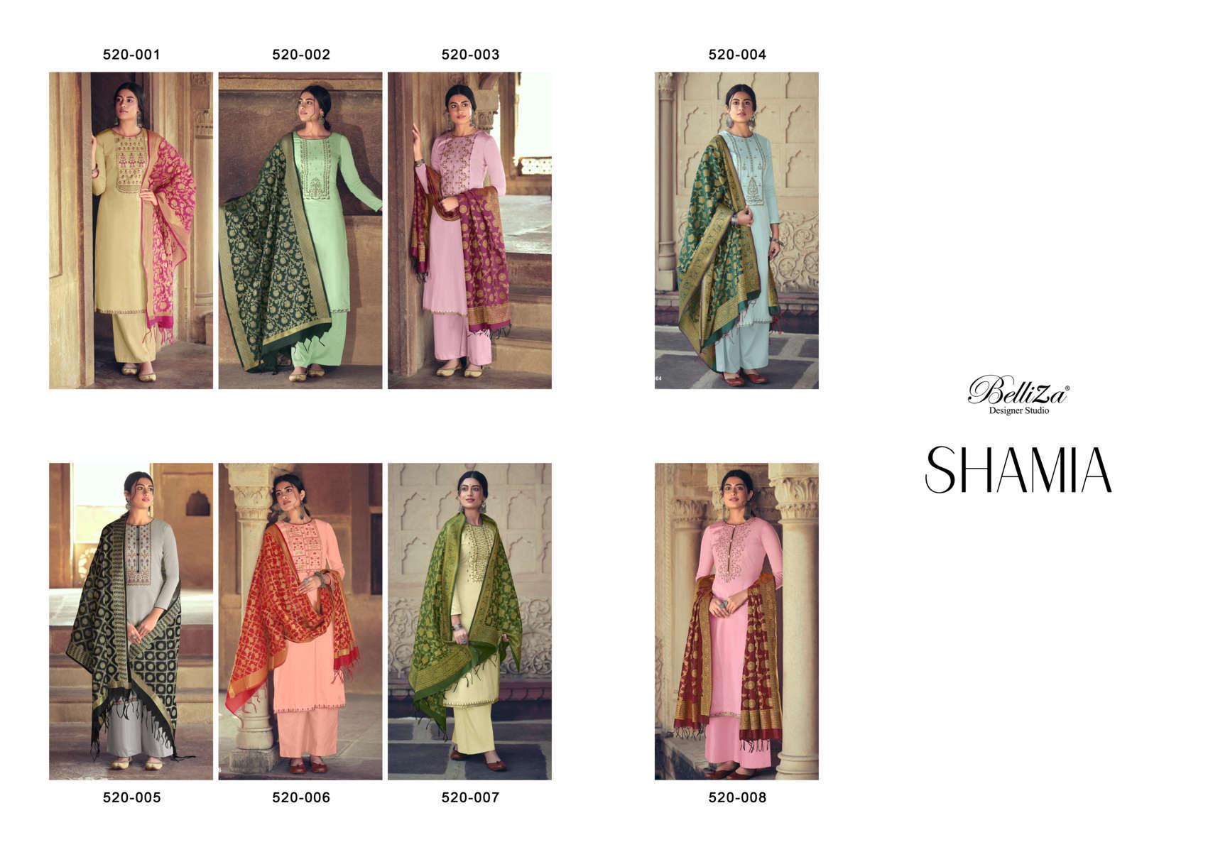 Belliza Shamia Salwar Suit Wholesale Catalog 8 Pcs 10 - Belliza Shamia Salwar Suit Wholesale Catalog 8 Pcs