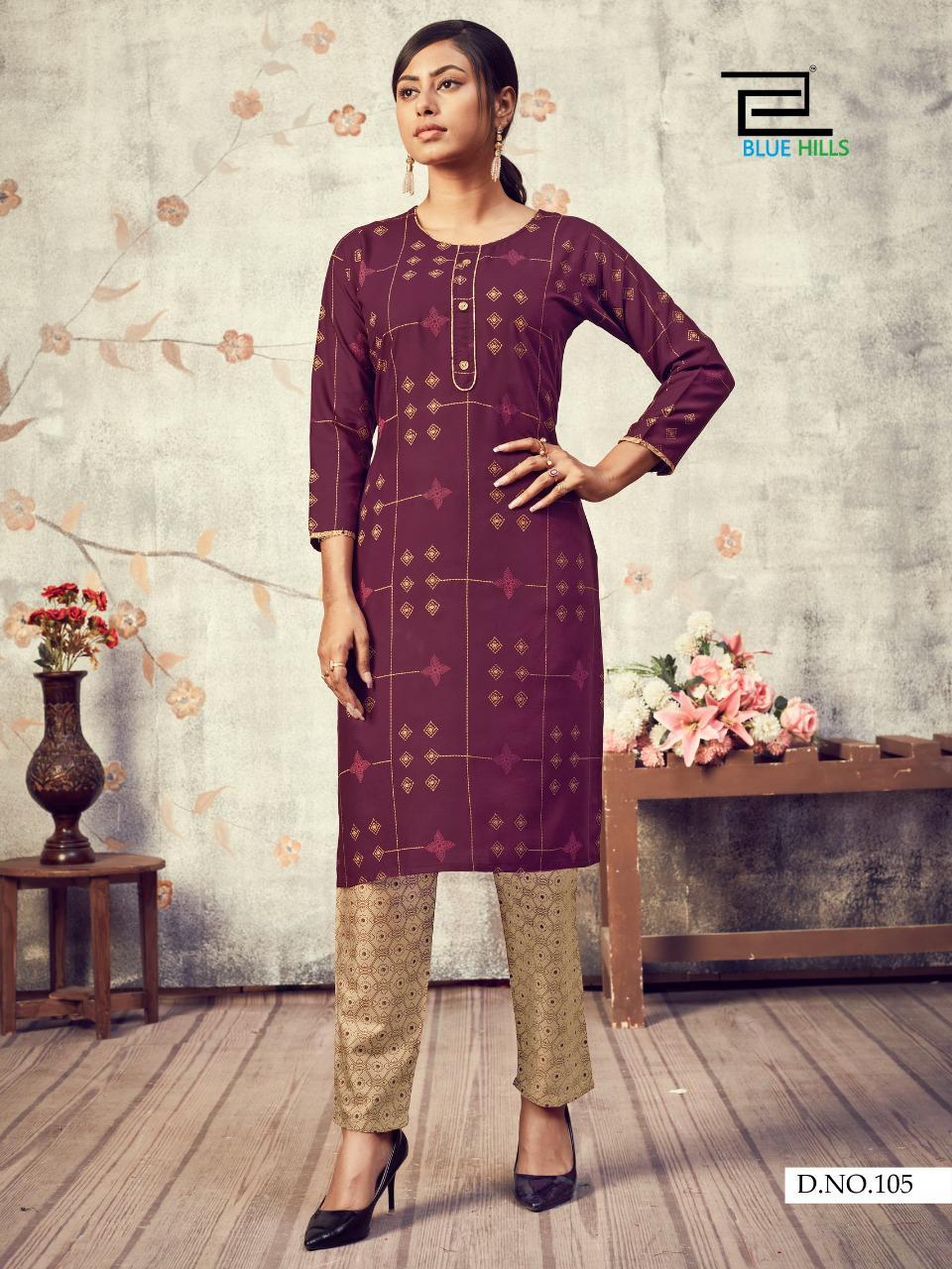 Blue Hills Jasmine Kurti with Pant Wholesale Catalog 10 Pcs 10 - Blue Hills Jasmine Kurti with Pant Wholesale Catalog 10 Pcs