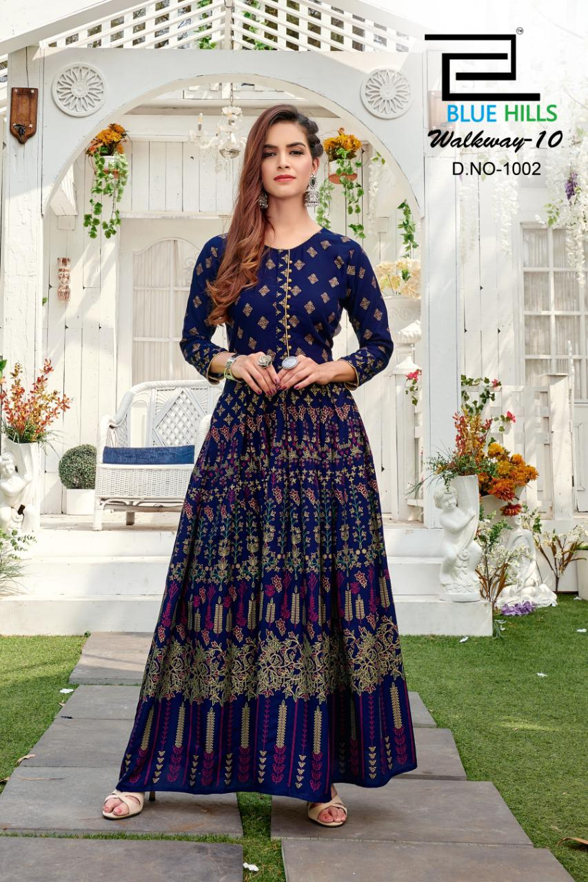 Blue Hills Walkway Vol 10 NX Kurti Wholesale Catalog 4 Pcs 3 - Blue Hills Walkway Vol 10 NX Kurti Wholesale Catalog 4 Pcs