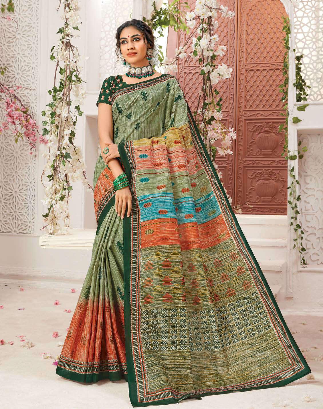 Deeptex Mother India Vol 38 A Saree Sari Wholesale Catalog 18 Pcs 7 - Deeptex Mother India Vol 38 A Saree Sari Wholesale Catalog 18 Pcs