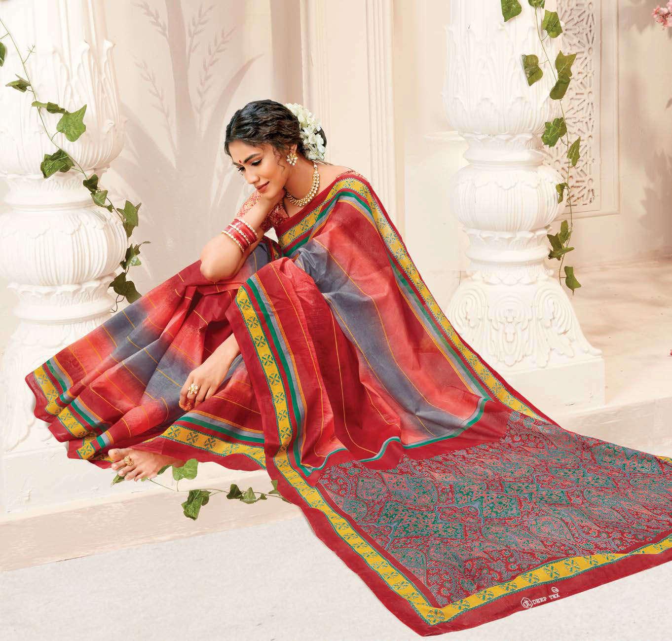 Deeptex Mother India Vol 38 B Saree Sari Wholesale Catalog 18 Pcs 2 - Deeptex Mother India Vol 38 B Saree Sari Wholesale Catalog 18 Pcs