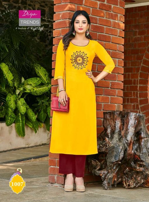 Diya Trends Casual Diaries Vol 1 by Kajal Style Kurti Wholesale Catalog 12 Pcs 10 510x692 - Diya Trends Casual Diaries Vol 1 by Kajal Style Kurti Wholesale Catalog 12 Pcs