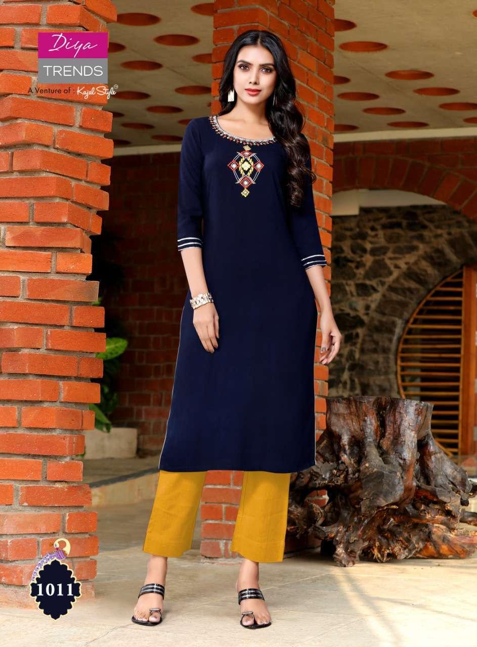 Diya Trends Casual Diaries Vol 1 by Kajal Style Kurti Wholesale Catalog 12 Pcs 12 - Diya Trends Casual Diaries Vol 1 by Kajal Style Kurti Wholesale Catalog 12 Pcs