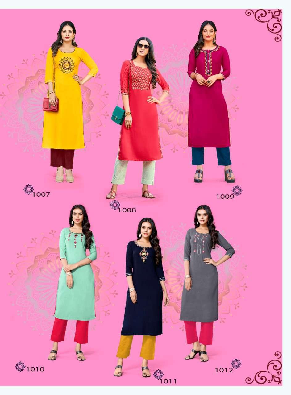 Diya Trends Casual Diaries Vol 1 by Kajal Style Kurti Wholesale Catalog 12 Pcs 14 - Diya Trends Casual Diaries Vol 1 by Kajal Style Kurti Wholesale Catalog 12 Pcs