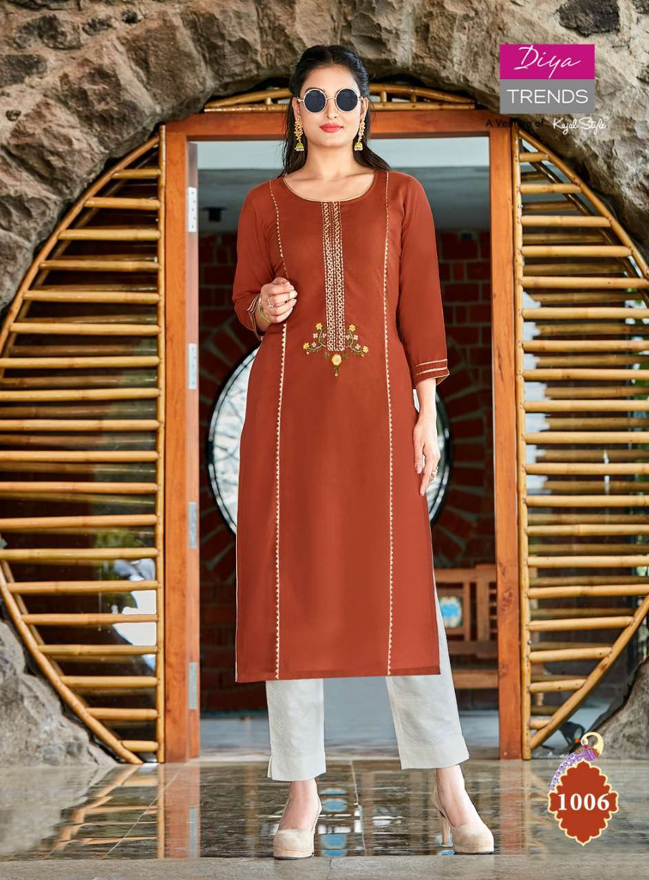 Diya Trends Casual Diaries Vol 1 by Kajal Style Kurti Wholesale Catalog 12 Pcs 4 - Diya Trends Casual Diaries Vol 1 by Kajal Style Kurti Wholesale Catalog 12 Pcs