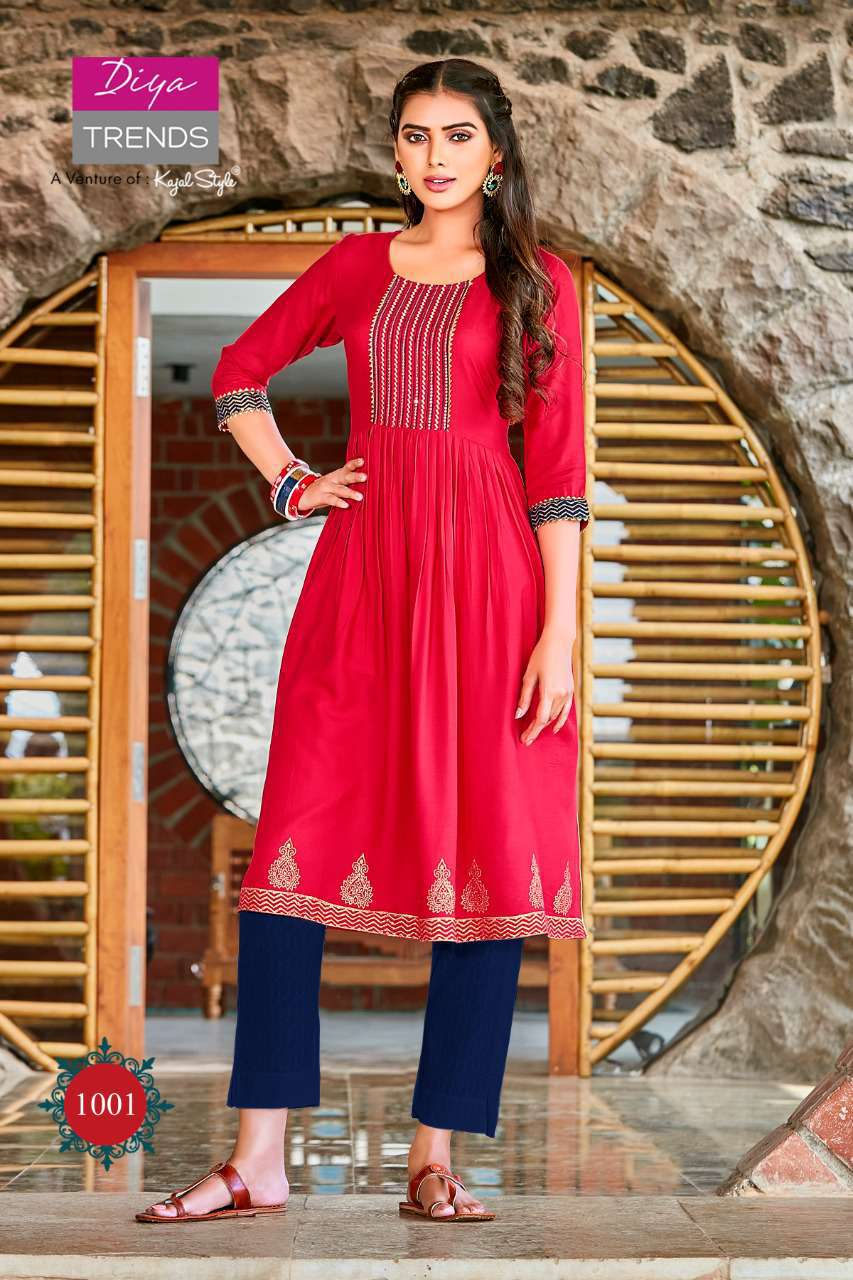 Diya Trends Summer Beauty Vol 1 by Kajal Style Kurti Wholesale Catalog 6 Pcs 2 - Diya Trends Summer Beauty Vol 1 by Kajal Style Kurti Wholesale Catalog 6 Pcs