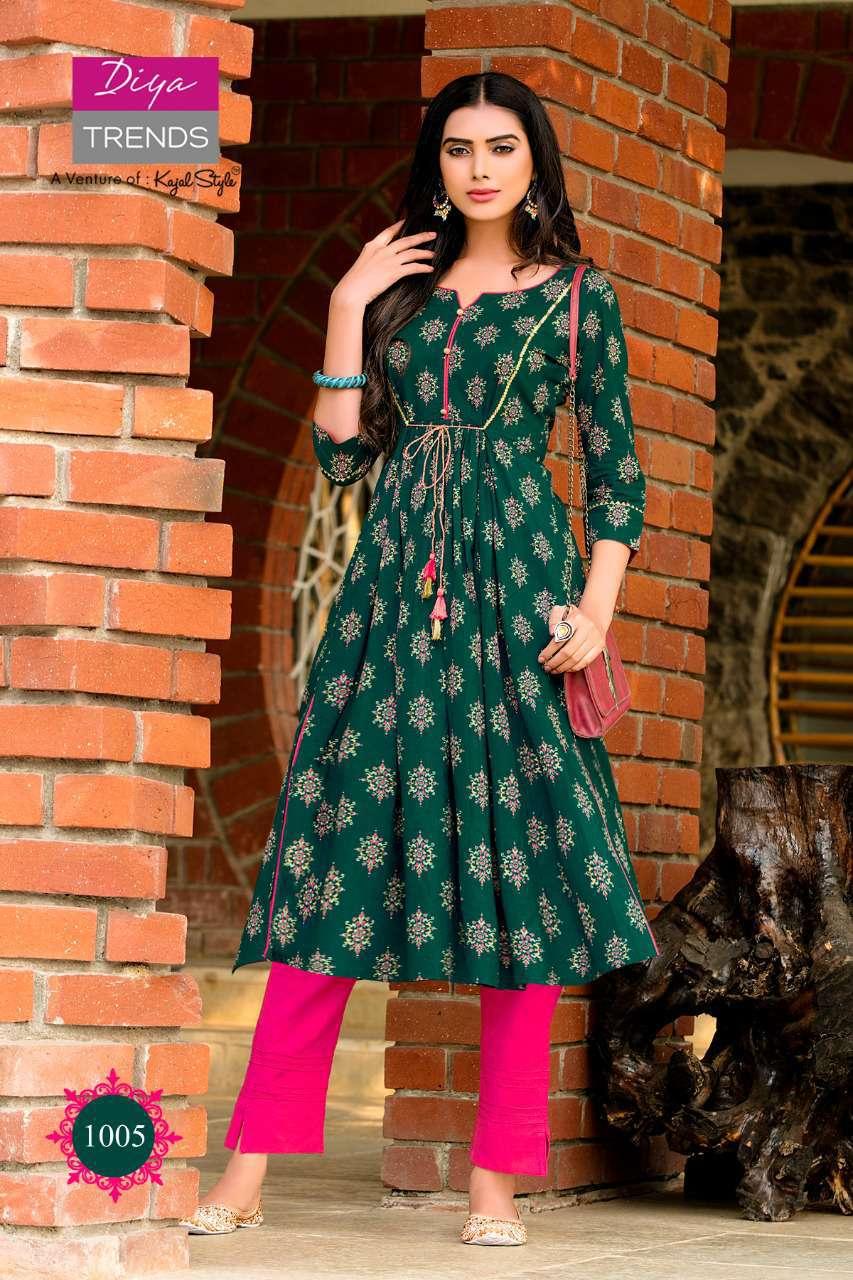 Diya Trends Summer Beauty Vol 1 by Kajal Style Kurti Wholesale Catalog 6 Pcs 3 - Diya Trends Summer Beauty Vol 1 by Kajal Style Kurti Wholesale Catalog 6 Pcs
