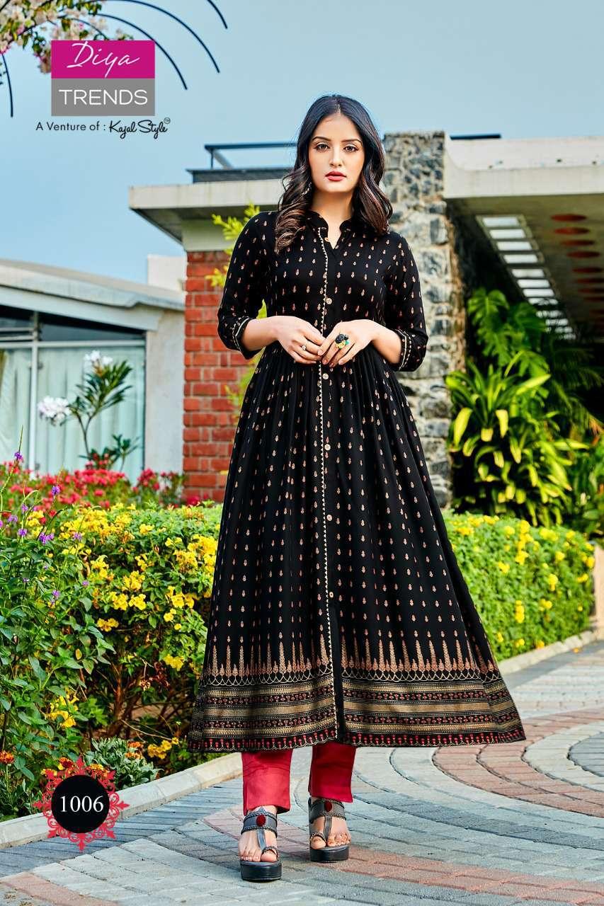 Diya Trends Summer Beauty Vol 1 by Kajal Style Kurti Wholesale Catalog 6 Pcs 4 - Diya Trends Summer Beauty Vol 1 by Kajal Style Kurti Wholesale Catalog 6 Pcs