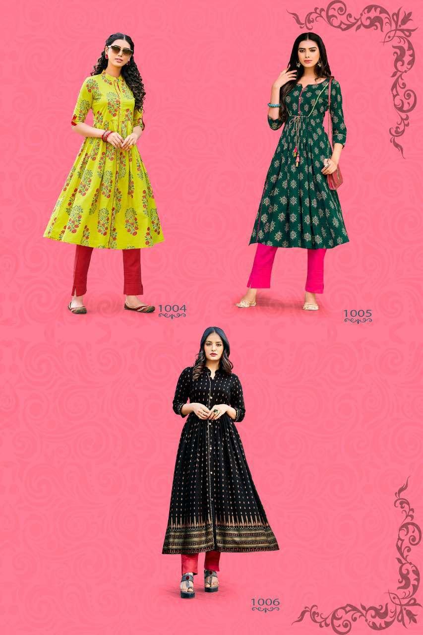 Diya Trends Summer Beauty Vol 1 by Kajal Style Kurti Wholesale Catalog 6 Pcs 8 - Diya Trends Summer Beauty Vol 1 by Kajal Style Kurti Wholesale Catalog 6 Pcs