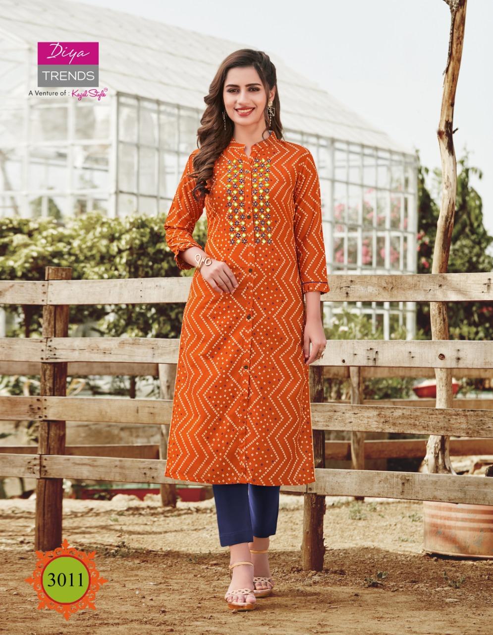 Diya Trends Victoria Vol 3 by Kajal Style Kurti Wholesale Catalog 12 Pcs 10 - Diya Trends Victoria Vol 3 by Kajal Style Kurti Wholesale Catalog 12 Pcs