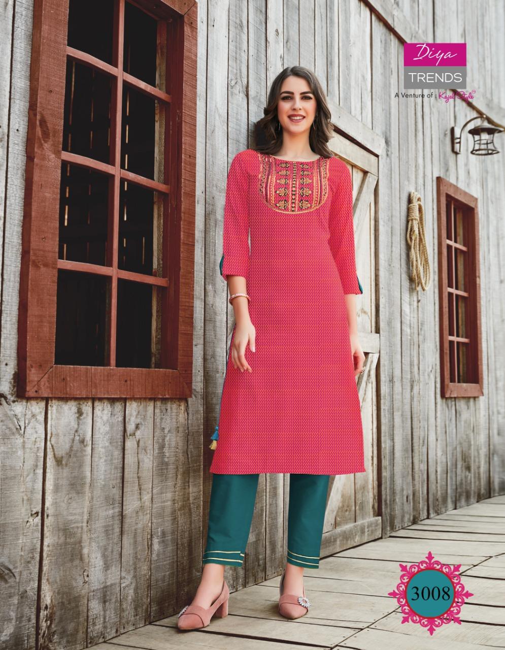 Diya Trends Victoria Vol 3 by Kajal Style Kurti Wholesale Catalog 12 Pcs 12 - Diya Trends Victoria Vol 3 by Kajal Style Kurti Wholesale Catalog 12 Pcs