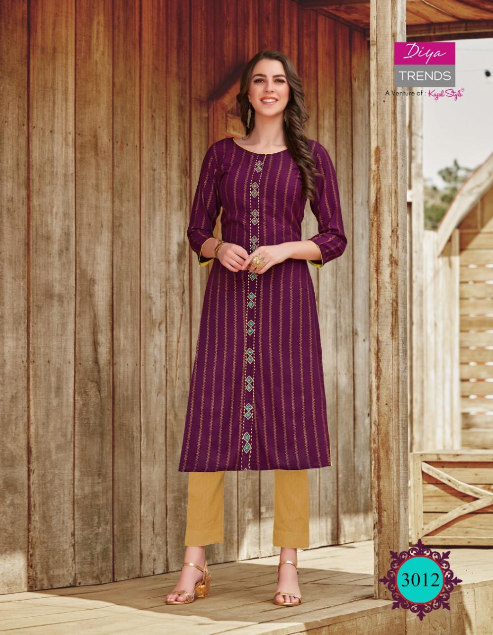 Diya Trends Victoria Vol 3 by Kajal Style Kurti Wholesale Catalog 12 Pcs 13 - Diya Trends Victoria Vol 3 by Kajal Style Kurti Wholesale Catalog 12 Pcs