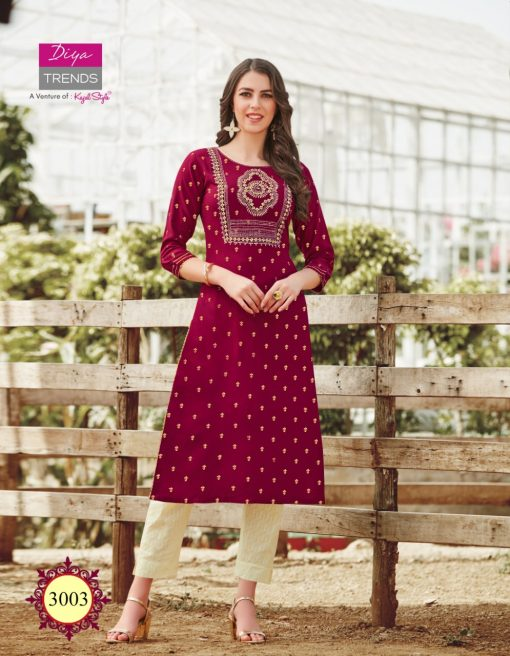 Diya Trends Victoria Vol 3 by Kajal Style Kurti Wholesale Catalog 12 Pcs 4 510x656 - Diya Trends Victoria Vol 3 by Kajal Style Kurti Wholesale Catalog 12 Pcs