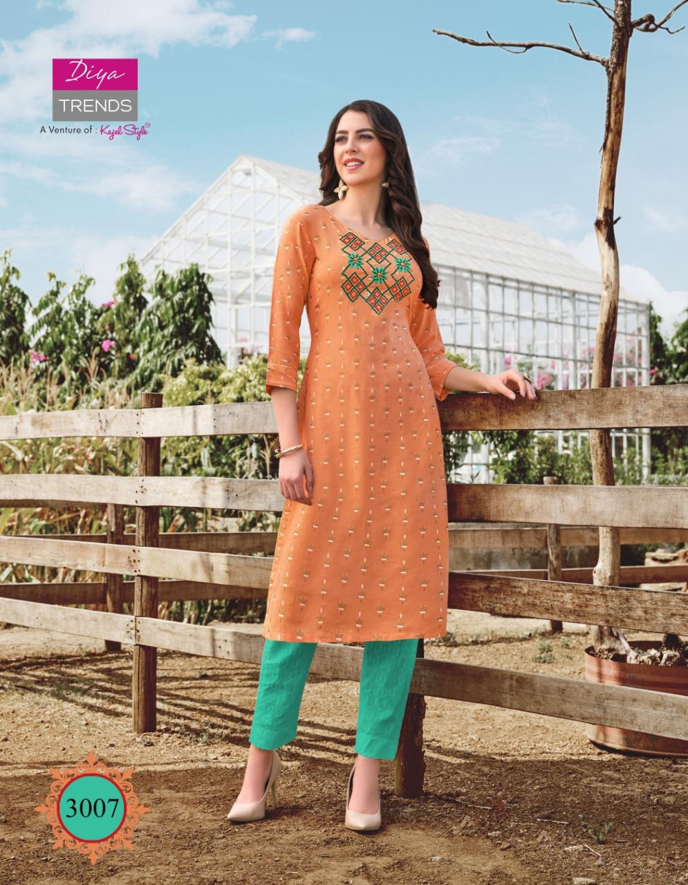 Diya Trends Victoria Vol 3 by Kajal Style Kurti Wholesale Catalog 12 Pcs 8 - Diya Trends Victoria Vol 3 by Kajal Style Kurti Wholesale Catalog 12 Pcs