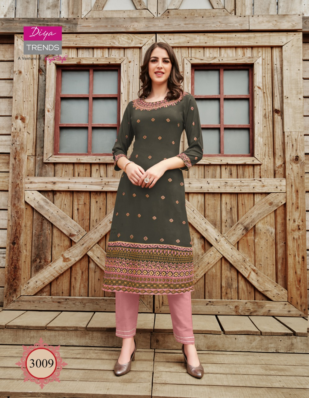 Diya Trends Victoria Vol 3 by Kajal Style Kurti Wholesale Catalog 12 Pcs 9 - Diya Trends Victoria Vol 3 by Kajal Style Kurti Wholesale Catalog 12 Pcs