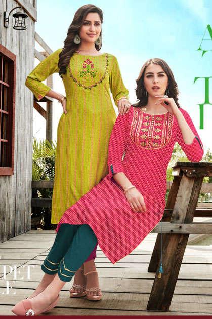 Diya Trends Victoria Vol 3 by Kajal Style Kurti Wholesale Catalog 12 Pcs - Diya Trends Victoria Vol 3 by Kajal Style Kurti Wholesale Catalog 12 Pcs