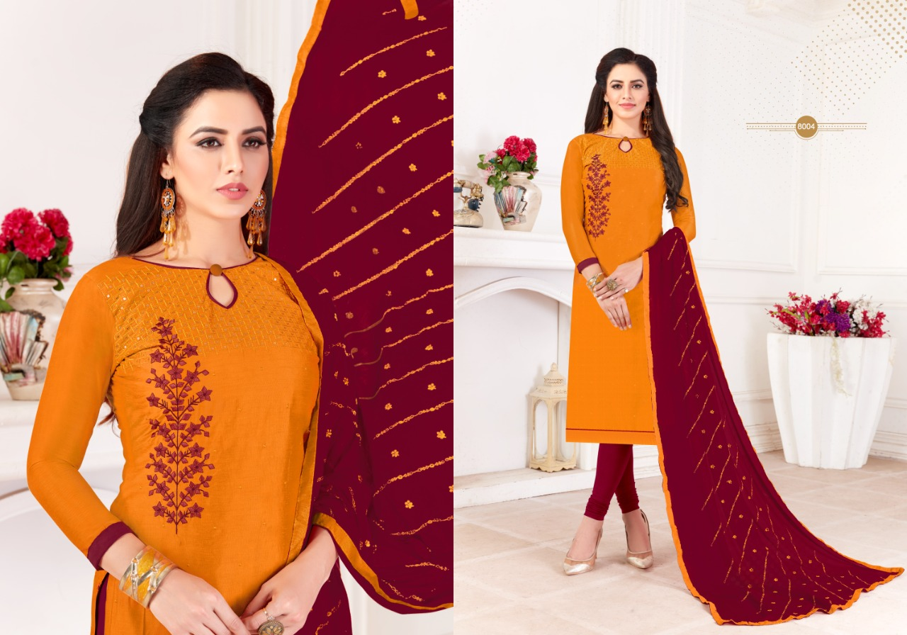Fashion Floor Saffron Salwar Suit Wholesale Catalog 12 Pcs 8 - Fashion Floor Saffron Salwar Suit Wholesale Catalog 12 Pcs