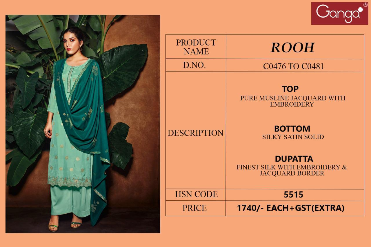 Ganga Rooh Salwar Suit Wholesale Catalog 6 Pcs 7 - Ganga Rooh Salwar Suit Wholesale Catalog 6 Pcs