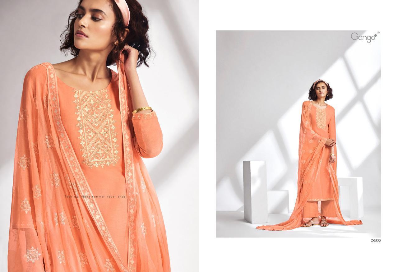 Ganga Threads Salwar Suit Wholesale Catalog 6 Pcs 4 - Ganga Threads Salwar Suit Wholesale Catalog 6 Pcs
