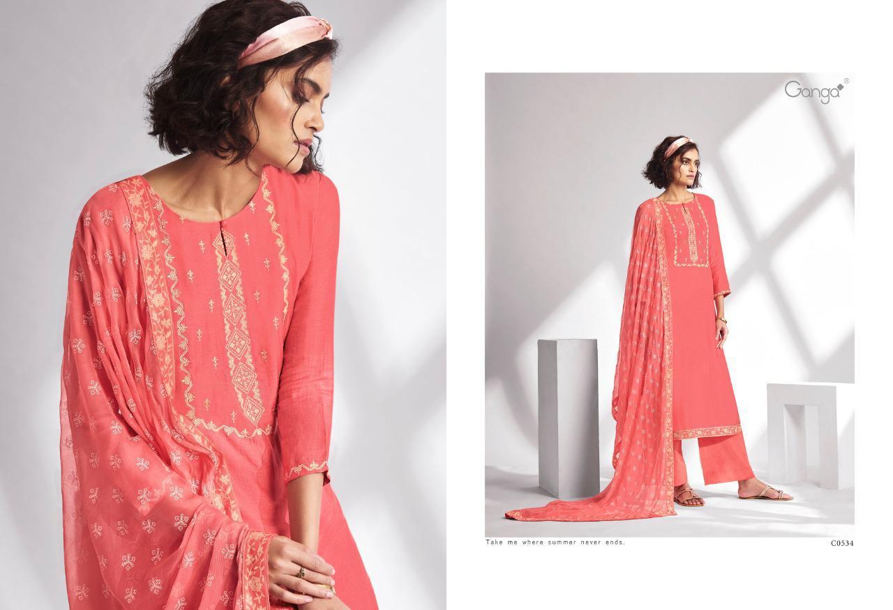 Ganga Threads Salwar Suit Wholesale Catalog 6 Pcs 5 - Ganga Threads Salwar Suit Wholesale Catalog 6 Pcs