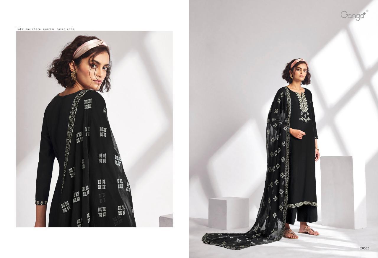 Ganga Threads Salwar Suit Wholesale Catalog 6 Pcs 6 - Ganga Threads Salwar Suit Wholesale Catalog 6 Pcs