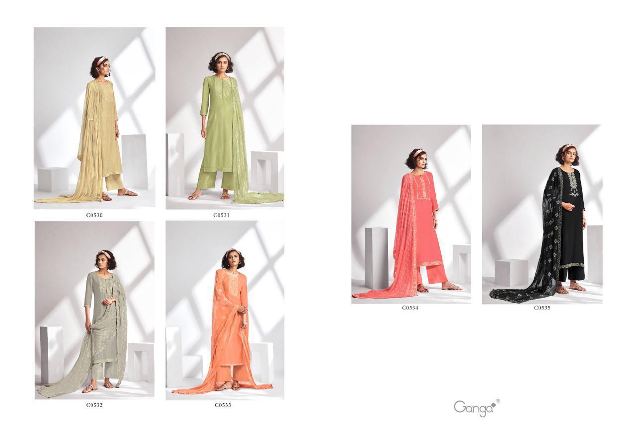 Ganga Threads Salwar Suit Wholesale Catalog 6 Pcs 8 - Ganga Threads Salwar Suit Wholesale Catalog 6 Pcs