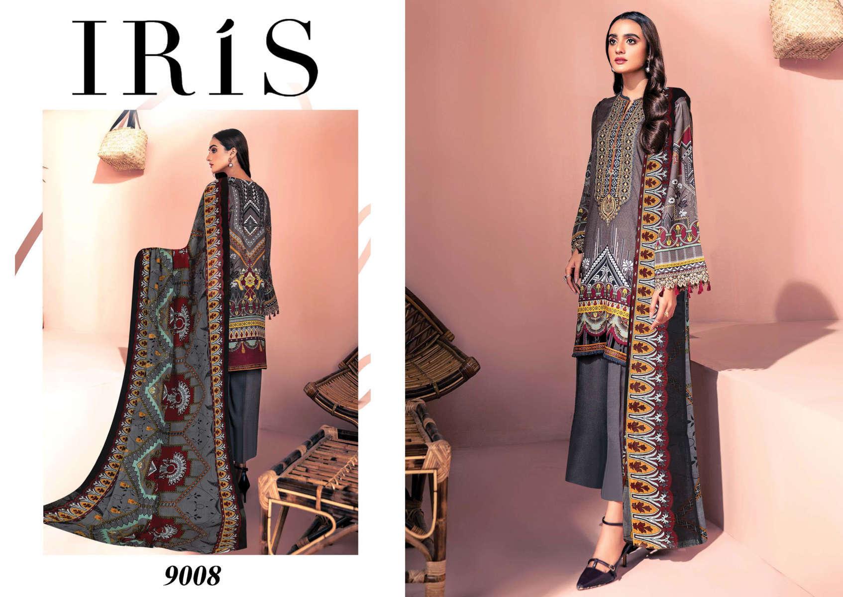 Iris Vol 9 Karachi Cotton Salwar Suit Wholesale Catalog 10 Pcs 11 - Iris Vol 9 Karachi Cotton Salwar Suit Wholesale Catalog 10 Pcs