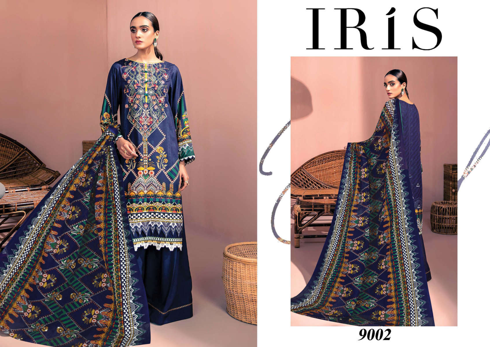 Iris Vol 9 Karachi Cotton Salwar Suit Wholesale Catalog 10 Pcs 4 - Iris Vol 9 Karachi Cotton Salwar Suit Wholesale Catalog 10 Pcs