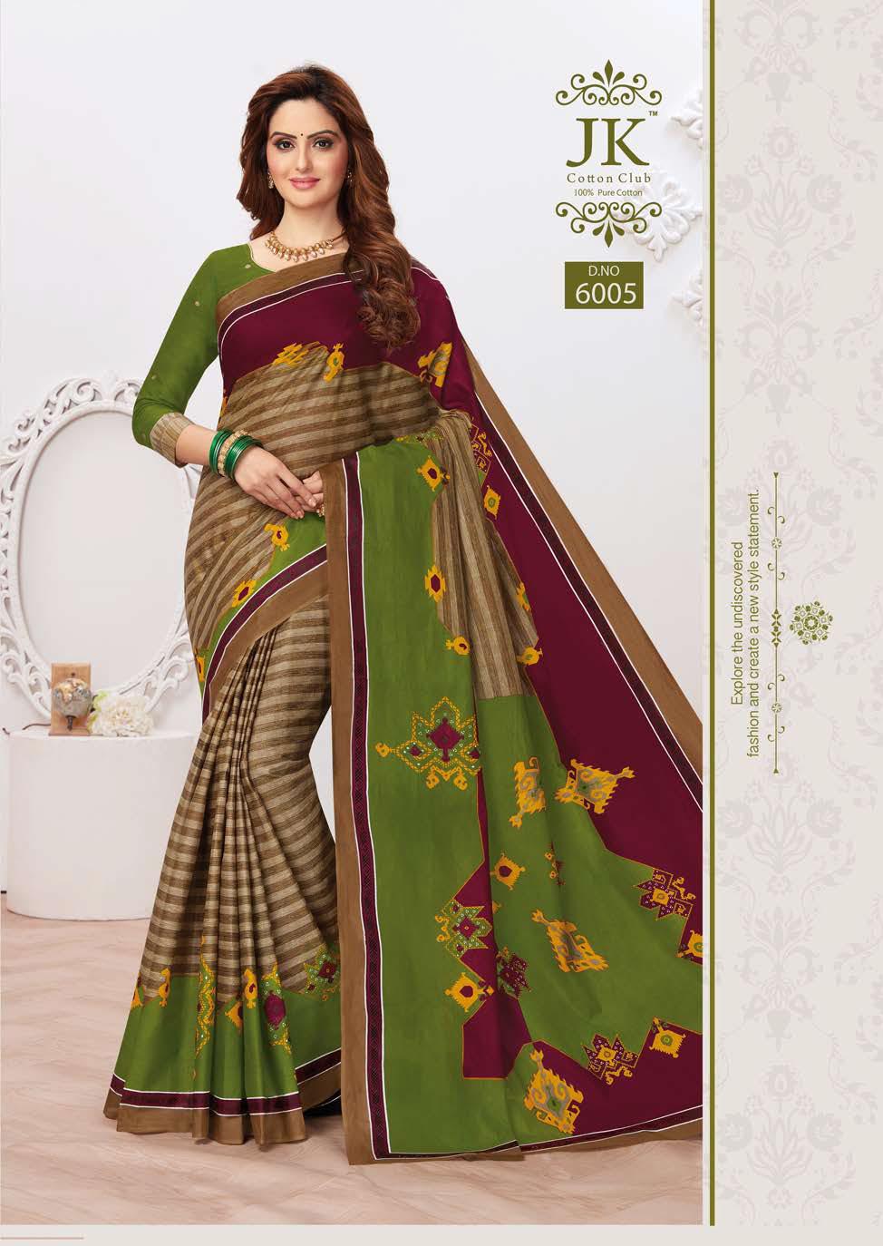 JK Tulsi Vol 6 A Saree Sari Wholesale Catalog 10 Pcs 3 - JK Tulsi Vol 6 A Saree Sari Wholesale Catalog 10 Pcs