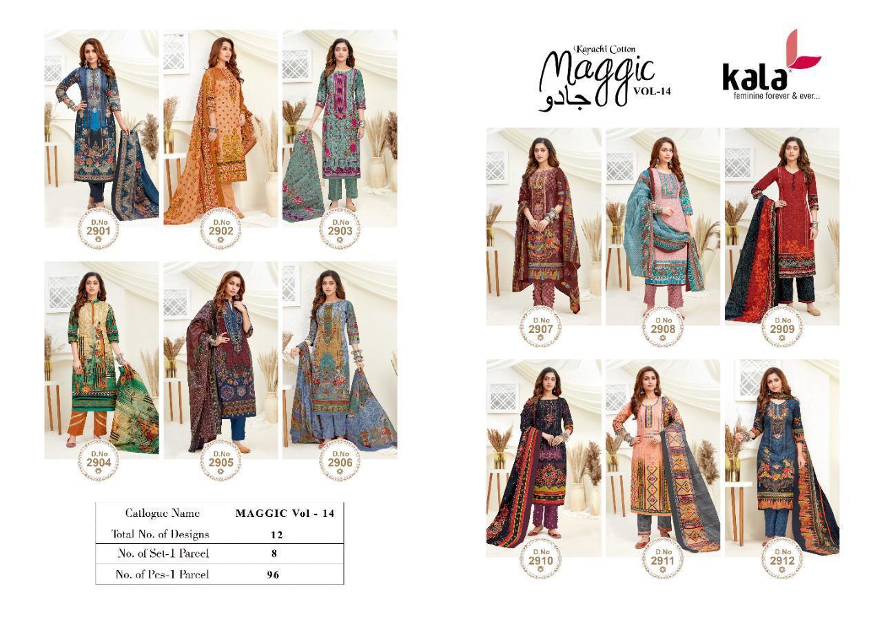 Kala Maggic Vol 14 Salwar Suit Wholesale Catalog 12 Pcs 13 - Kala Maggic Vol 14 Salwar Suit Wholesale Catalog 12 Pcs