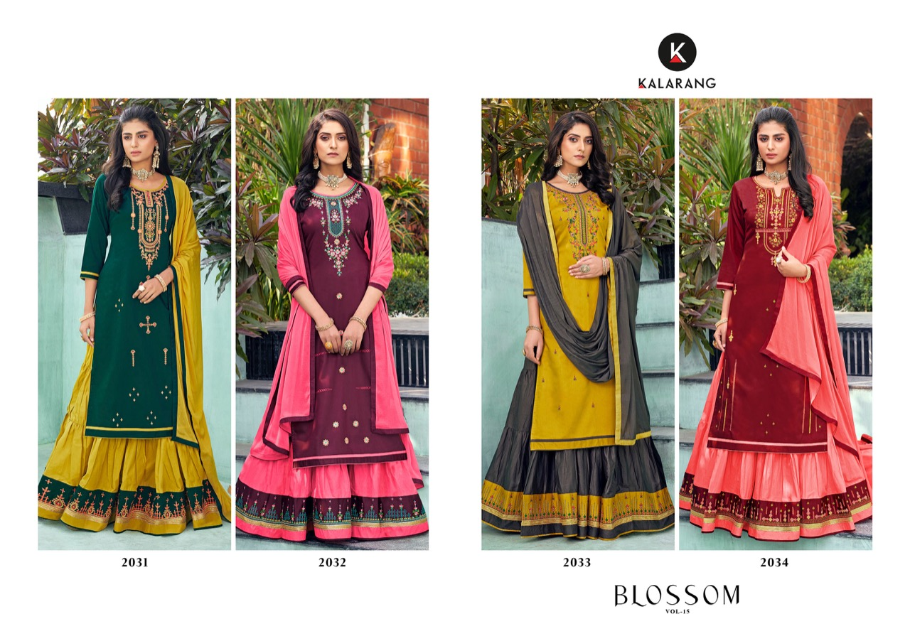 Kalarang Blossom Vol 15 by Kessi Salwar Suit Wholesale Catalog 4 Pcs 6 - Kalarang Blossom Vol 15 by Kessi Salwar Suit Wholesale Catalog 4 Pcs