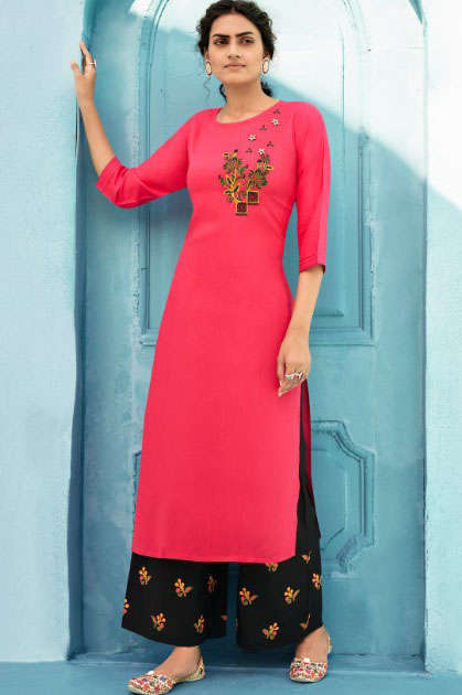 Kalaroop Milka By Kessi Kurti with Palazzo Wholesale Catalog 10 Pcs