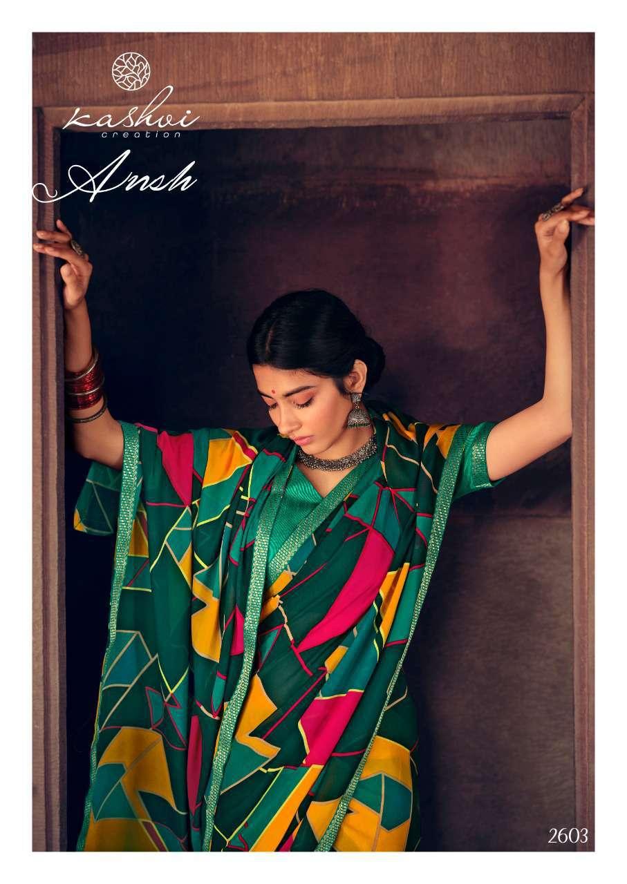 Kashvi Ansh Vol 2 by Lt Fabrics Saree Sari Wholesale Catalog 10 Pcs 10 - Kashvi Ansh Vol 2 by Lt Fabrics Saree Sari Wholesale Catalog 10 Pcs