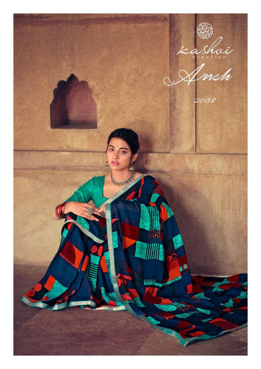 Kashvi Ansh Vol 2 by Lt Fabrics Saree Sari Wholesale Catalog 10 Pcs 19 - Kashvi Ansh Vol 2 by Lt Fabrics Saree Sari Wholesale Catalog 10 Pcs