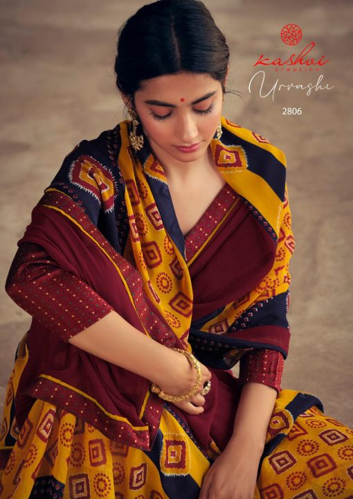 Kashvi Urvashi by Lt Fabrics Saree Sari Wholesale Catalog 10 Pcs 15 510x720 - Kashvi Urvashi by Lt Fabrics Saree Sari Wholesale Catalog 10 Pcs