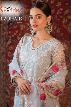 Khayyira Alzohaib Vol 2 Salwar Suit Wholesale Catalog 4 Pcs 247x371 - Khayyira Alzohaib Vol 2 Salwar Suit Wholesale Catalog 4 Pcs