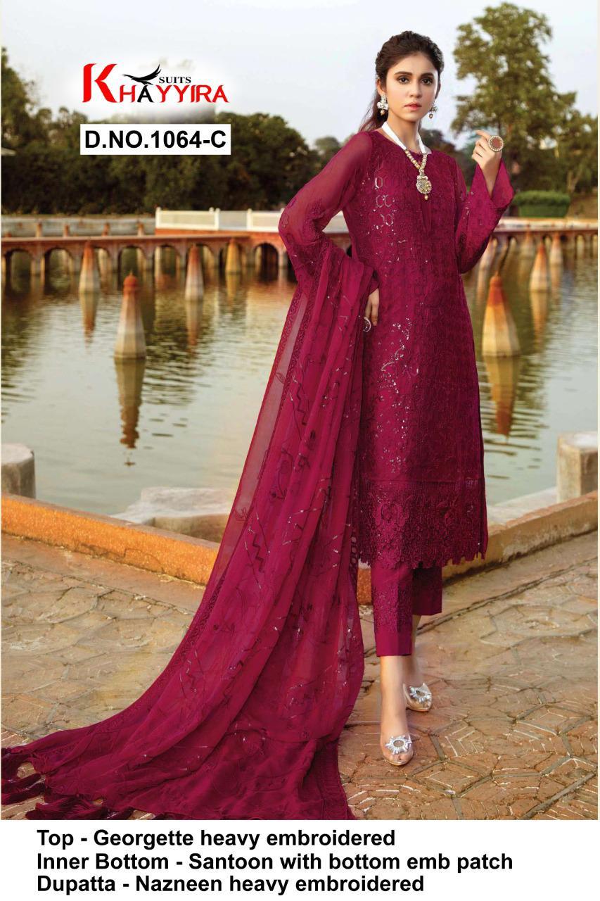 Khayyira Eleonora Edition 1064 Salwar Suit Wholesale Catalog 4 Pcs 3 - Khayyira Eleonora Edition 1064 Salwar Suit Wholesale Catalog 4 Pcs