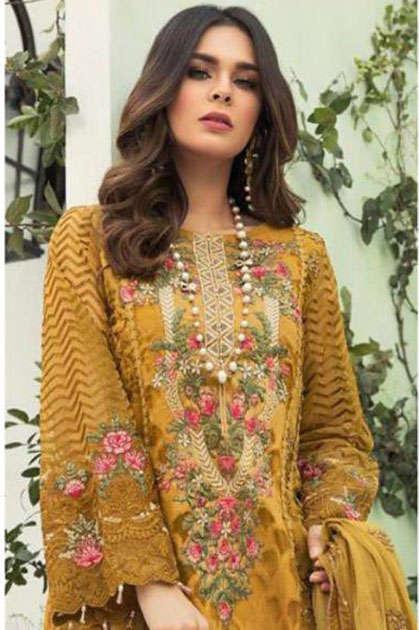 Khayyira Maria B Spring Summer 20 Salwar Suit Wholesale Catalog 6 Pcs