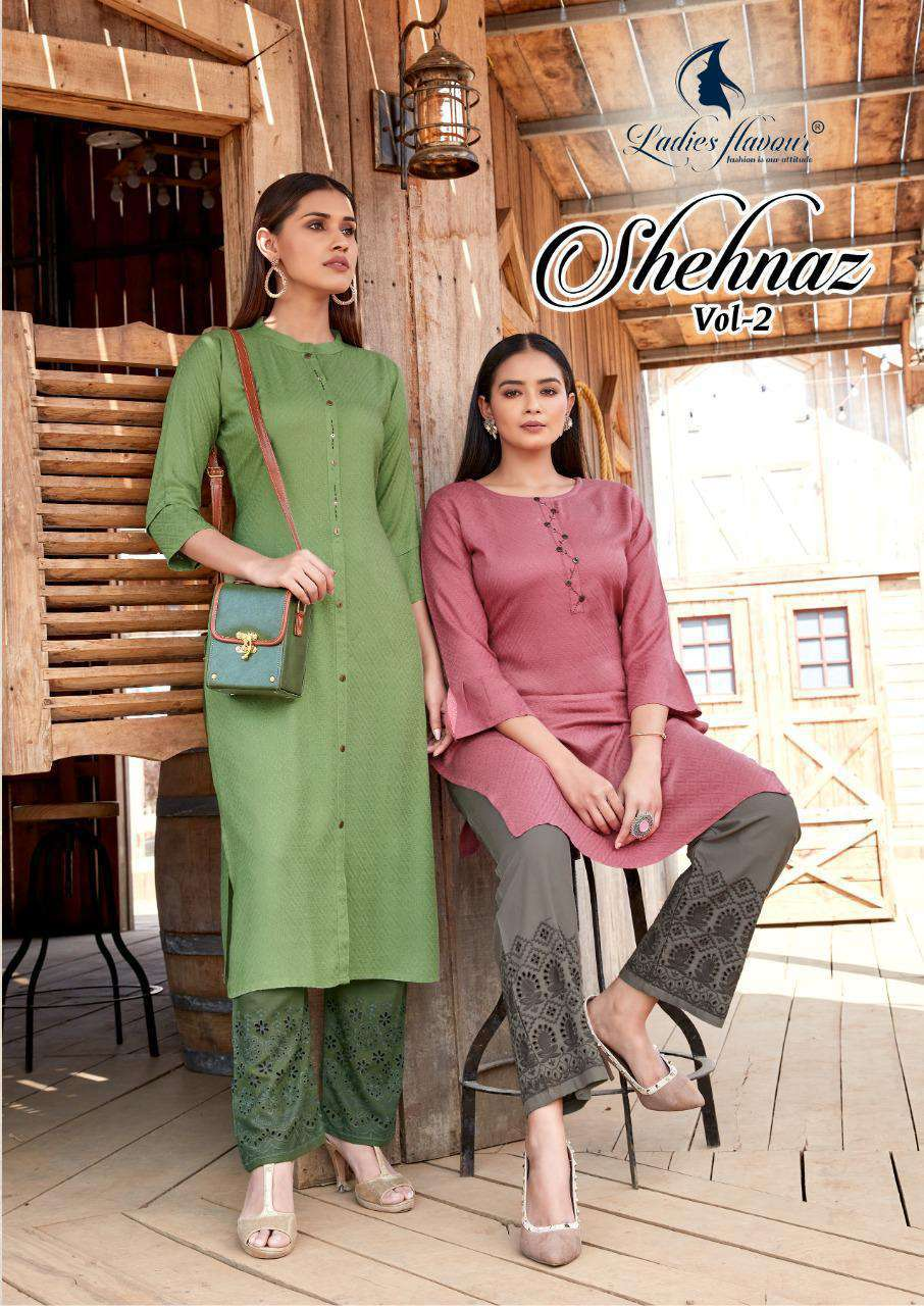 Ladies Flavour Shehnaz Vol 2 Kurti with Palazzo Wholesale Catalog 8 Pcs 1 - Ladies Flavour Shehnaz Vol 2 Kurti with Palazzo Wholesale Catalog 8 Pcs
