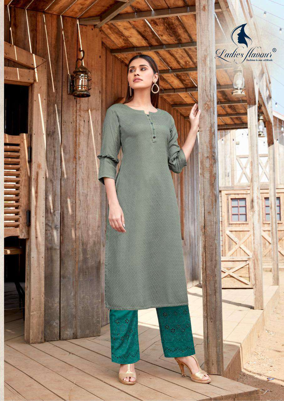 Ladies Flavour Shehnaz Vol 2 Kurti with Palazzo Wholesale Catalog 8 Pcs 13 - Ladies Flavour Shehnaz Vol 2 Kurti with Palazzo Wholesale Catalog 8 Pcs