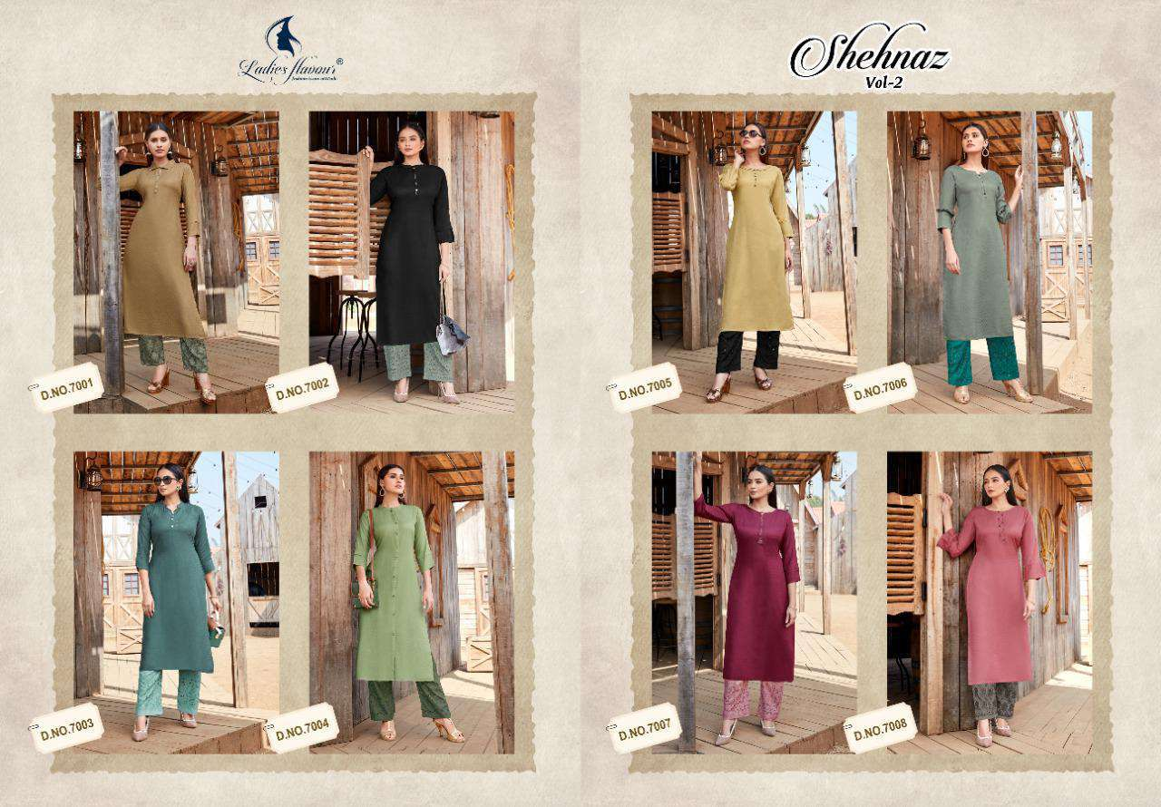 Ladies Flavour Shehnaz Vol 2 Kurti with Palazzo Wholesale Catalog 8 Pcs 18 - Ladies Flavour Shehnaz Vol 2 Kurti with Palazzo Wholesale Catalog 8 Pcs