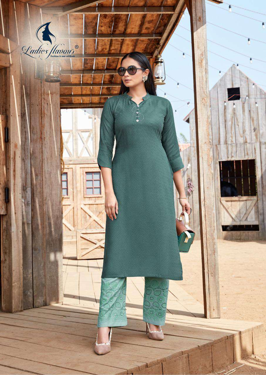 Ladies Flavour Shehnaz Vol 2 Kurti with Palazzo Wholesale Catalog 8 Pcs 7 - Ladies Flavour Shehnaz Vol 2 Kurti with Palazzo Wholesale Catalog 8 Pcs