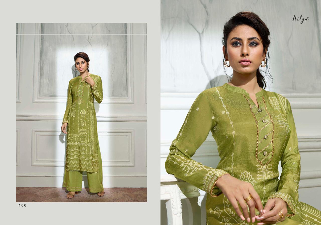 Lt Fabrics Nitya Bandhni Kurti with Palazzo Wholesale Catalog 7 Pcs 10 - Lt Fabrics Nitya Bandhni Kurti with Palazzo Wholesale Catalog 7 Pcs