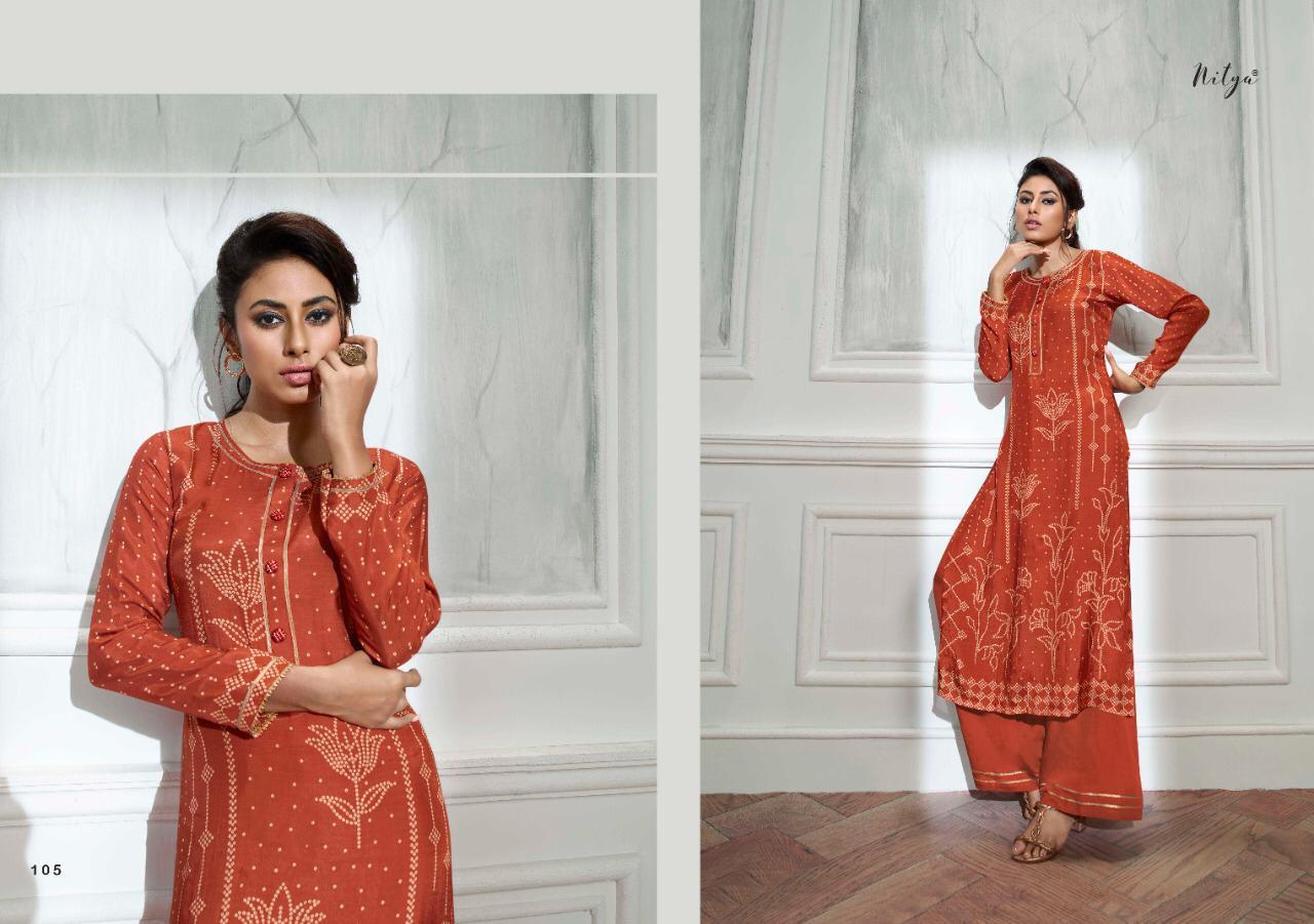Lt Fabrics Nitya Bandhni Kurti with Palazzo Wholesale Catalog 7 Pcs 9 - Lt Fabrics Nitya Bandhni Kurti with Palazzo Wholesale Catalog 7 Pcs